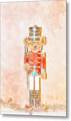 Teddy Nutcracker Metal Print by David Stasiak