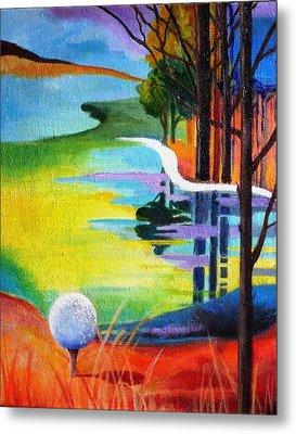 Tee Off Mindset- Golf Series Metal Print by Betty M M   Wong