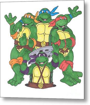 Teenage Mutant Ninja Turtles  Metal Print by Yael Rosen