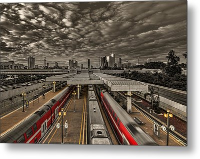 Metal Print featuring the photograph Tel Aviv Central Railway Station by Ron Shoshani
