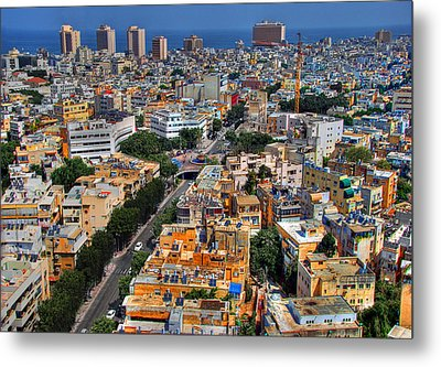 Metal Print featuring the photograph Tel Aviv Eagle Eye View by Ron Shoshani