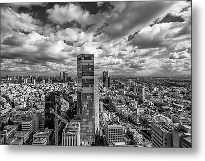 Tel Aviv High And Above Metal Print by Ron Shoshani