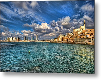 Metal Print featuring the photograph Tel Aviv Jaffa Shoreline by Ron Shoshani