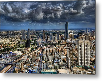 Tel Aviv Love Metal Print by Ron Shoshani
