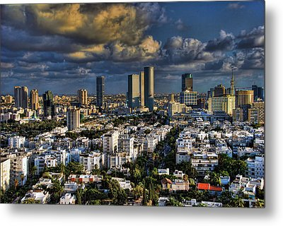 Metal Print featuring the photograph Tel Aviv Skyline Fascination by Ron Shoshani