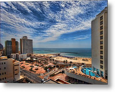 Metal Print featuring the photograph Tel Aviv Summer Time by Ron Shoshani
