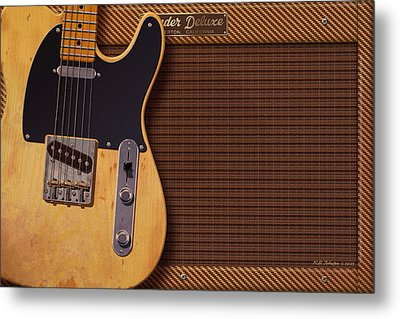 Telecaster Deluxe Metal Print by WB Johnston