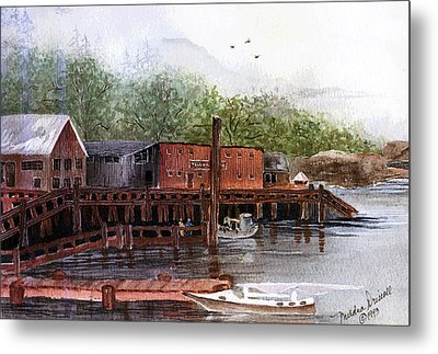 Telegraph Cove Metal Print by Meldra Driscoll