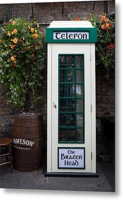 Telephone Kiosk, The Brazen Head Pub Metal Print