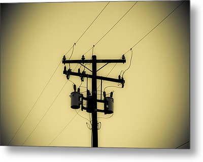 Telephone Pole 1 Metal Print by Scott Campbell