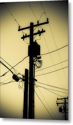 Telephone Pole 2 Metal Print by Scott Campbell