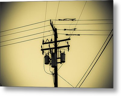 Telephone Pole 4 Metal Print by Scott Campbell
