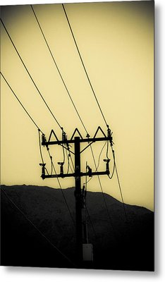 Telephone Pole 6 Metal Print by Scott Campbell