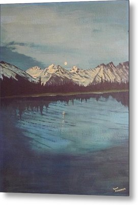 Metal Print featuring the painting Telequana Lk Ak by Terry Frederick