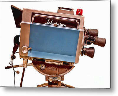 Television Studio Camera Hdr Metal Print by Edward Fielding