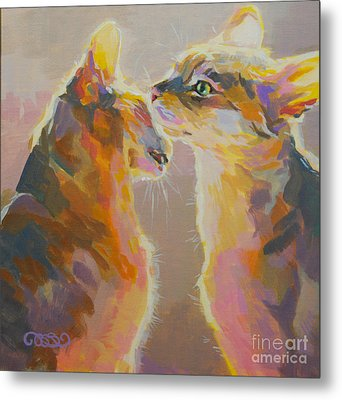 Telling Secrets Metal Print by Kimberly Santini