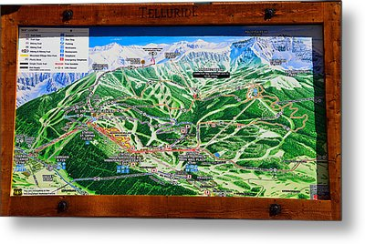 Telluride Ski Map Detail  Metal Print by David Lee Thompson