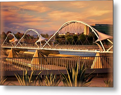 Tempe Pedestrian Bridge Metal Print