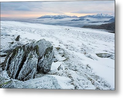 Temperature Inversion From Red Screes Metal Print