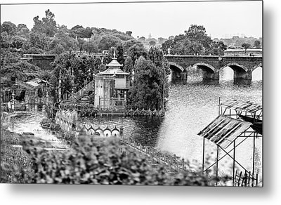 Temple By The River Metal Print