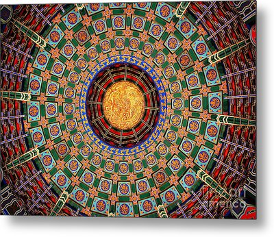 Metal Print featuring the photograph Temple Ceiling by Lisa L Silva