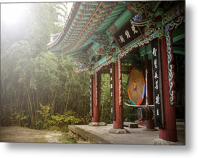 Temple Drum Metal Print