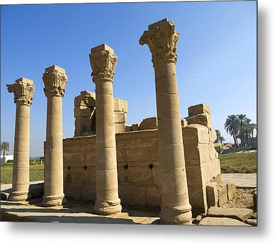 Temple Entrance At Denderah Metal Print by Brenda Kean