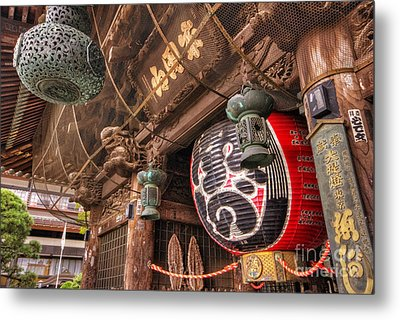 Metal Print featuring the photograph Temple Entrance by John Swartz