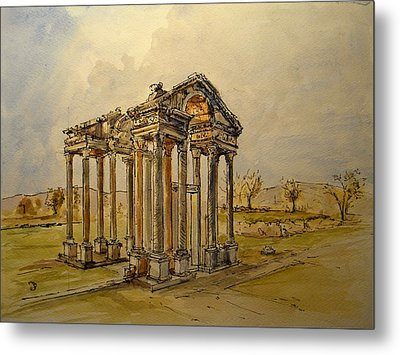 Temple Of Aphrodite Metal Print by Juan  Bosco