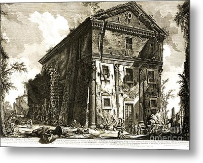 Temple Of Bacchus Rome 1746 Metal Print by Padre Art