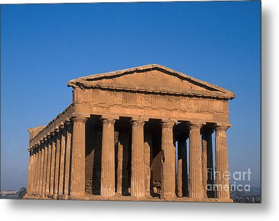 Temple Of Concordia, Sicily Metal Print by Catherine Ursillo