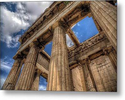 Metal Print featuring the photograph Temple Of Hephaestus by Micah Goff