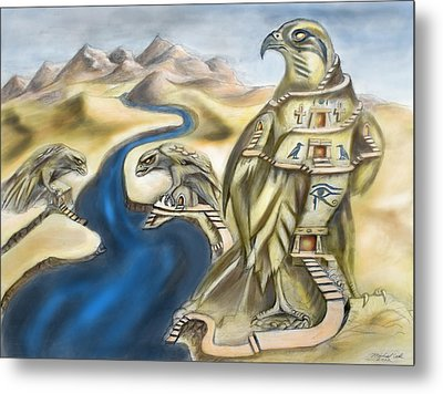 Temple Of Horus Three Of Three Metal Print by Michael Cook