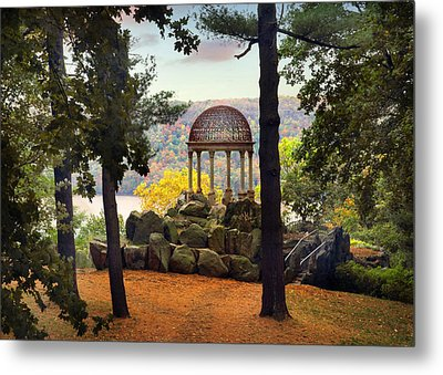 Temple Of Love In Autumn Metal Print