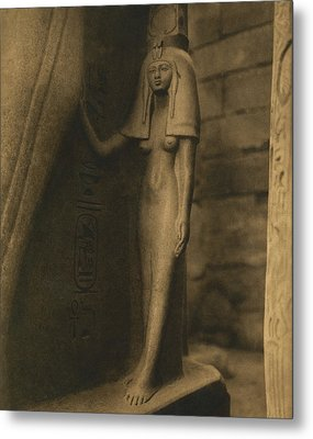 Temple Of Luxor Metal Print by Underwood Archives