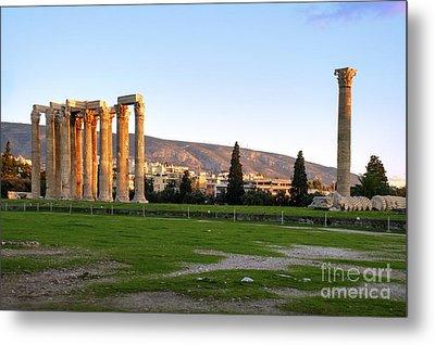 Temple Of Olympian Zeus. Athens Metal Print by Ilan Rosen