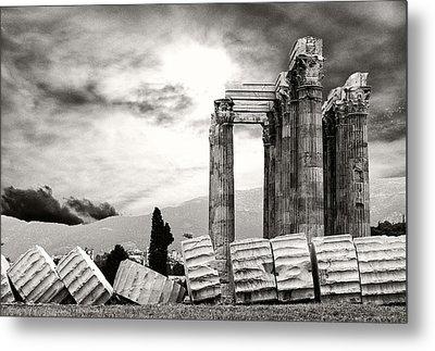 Temple Of Olympian Zeus Metal Print by Manolis Tsantakis