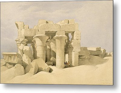 Temple Of Sobek And Haroeris At Kom Ombo Metal Print by David Roberts