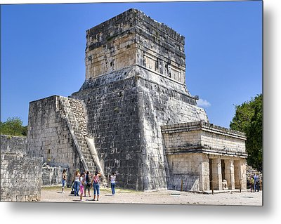 Temple Of The Jaguars At Chichen Itza Metal Print