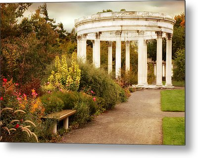 Temple Of The Sky In Autumn Metal Print