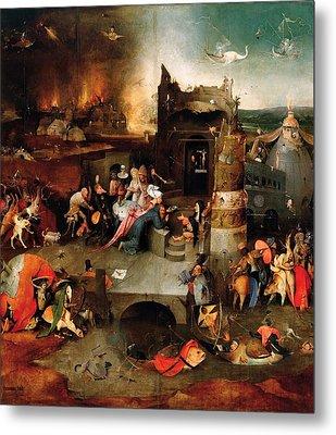 Temptation Of Saint Anthony - Central Panel Metal Print