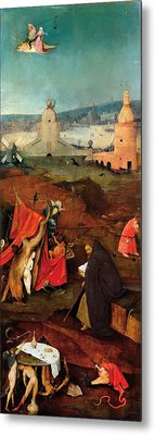 Temptation Of Saint Anthony - Right Wing Metal Print