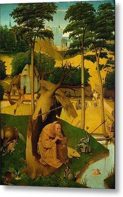 Temptation Of St. Anthony, 1490 Oil On Panel Metal Print