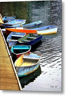 Ten Rockport Dinghies Metal Print by Dale   Ford
