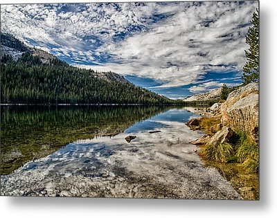 Tenaya Lake Reflections Metal Print by Cat Connor