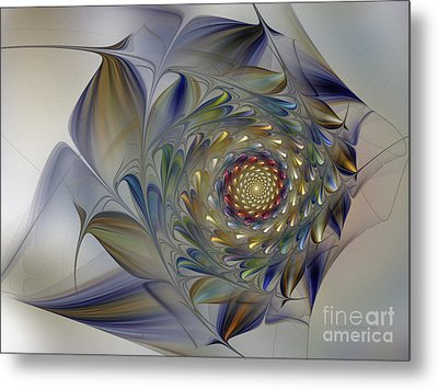 Tender Flowers Dream-fractal Art Metal Print