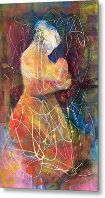 Tender Moment Metal Print by Marilyn Jacobson