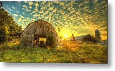 Tennesee Sunrise Metal Print by  Caleb McGinn
