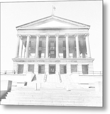 Tennessee Capitol Building Sketch Metal Print by Dan Sproul