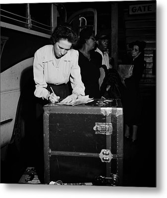 Tennessee Coach Company Baggage Agent Knoxville 1943 Metal Print
